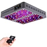 VIPARSPECTRA Timer Control Series VT600-S 600W LED Grow Light - Dimmable VEG/BLOOM Channels 12-Band Full Spectrum for Indoor Plants