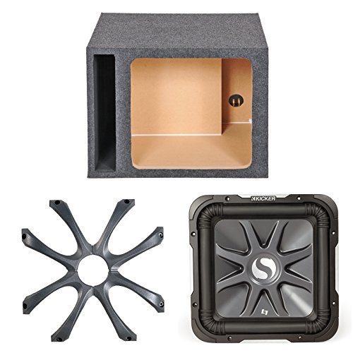 "Kicker S10L74 10"" Inch 4-Ohms Solo-Baric L7 Car Subwoofer - Kicker 08GL710 Square 10-Inch 250mm Cast Grille - Q-Power 10SVSQ 10"" Single Vented Enclosure, L7 Square Hole"