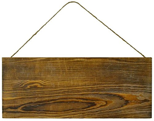Lara's Crafts Barn Wood Rustic Plank Sign with Jute Hanger - 5.5