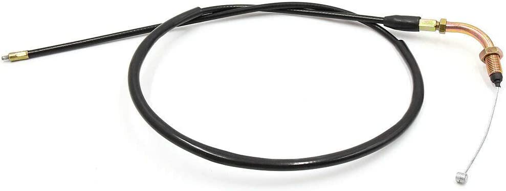 YuXuan Pavilion Replace 105cm Length Black Rubber Coated Motorcycle Throttle Cable Wire Oil Line for Honda CG125
