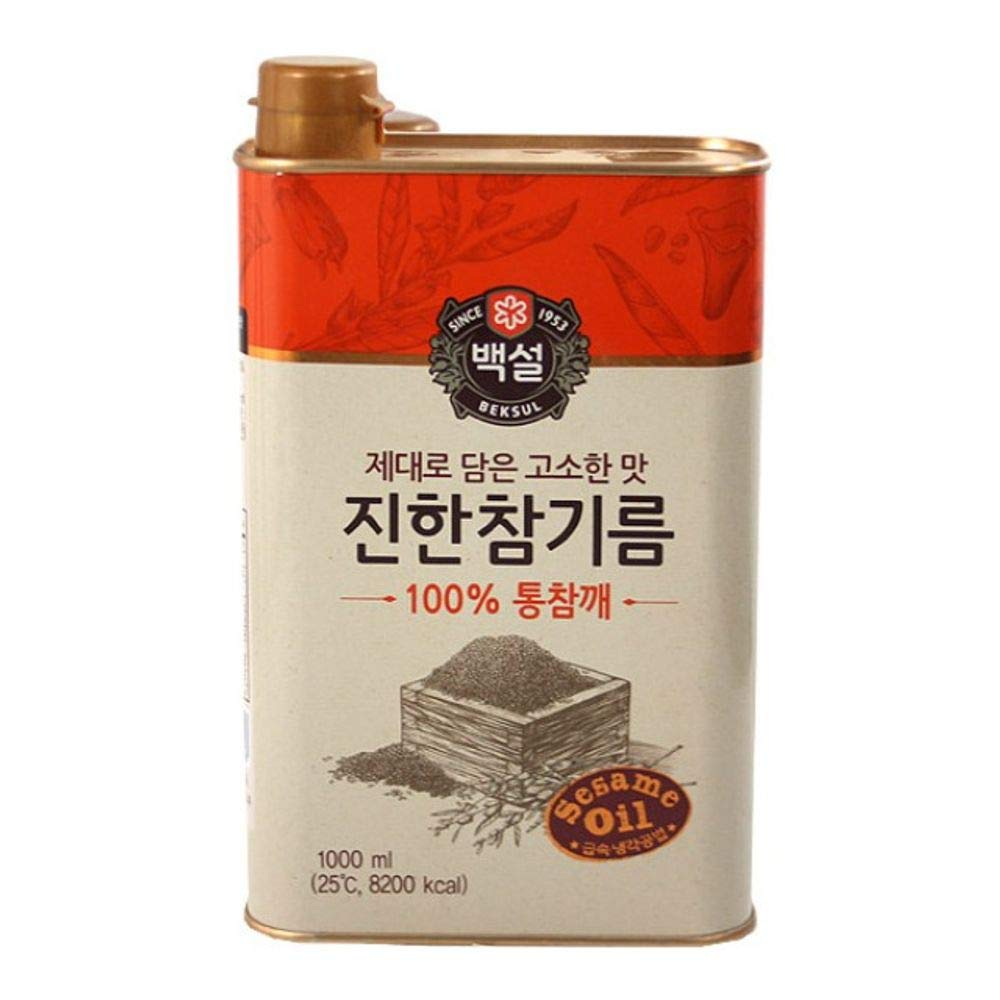 Beksul Sesame Oil 1000ml, Product of Korea 백설 진한 참기름 by CJ