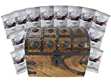Coffee Treasure Chest Filled With 12 Around the World Coffee Masters Variety Pack Gift Set by Well Pack Box