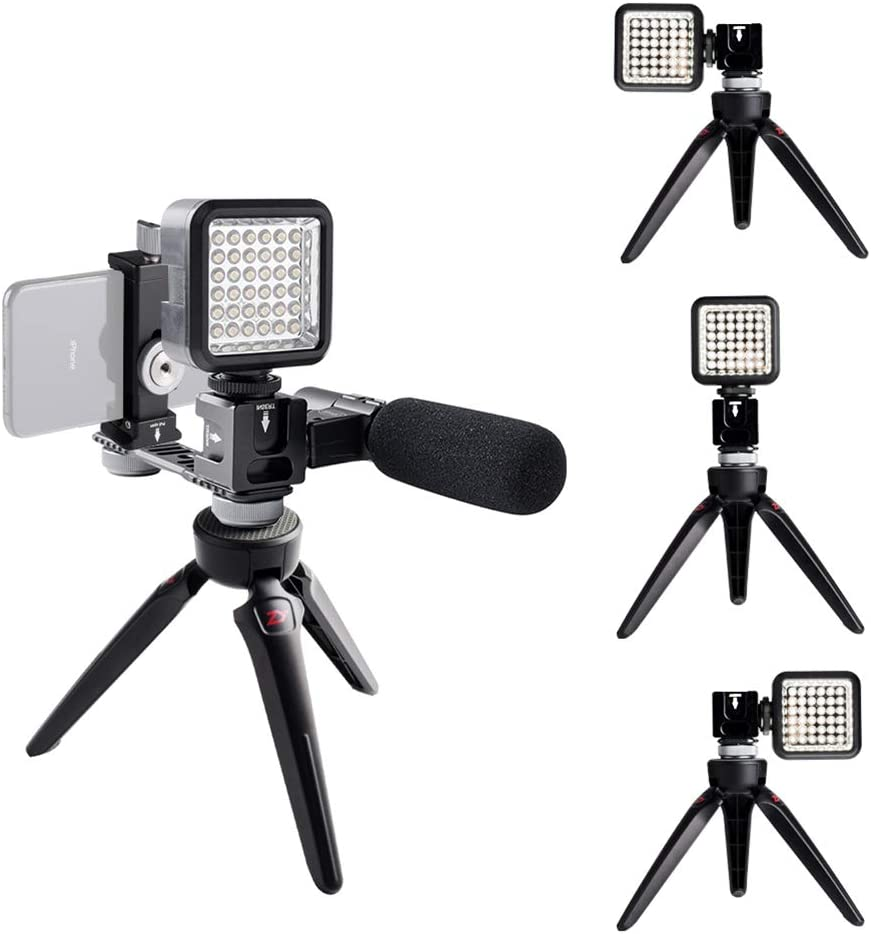 Universal Mic Stand and Light Mount Plate Adapter for ZHIYUN DJI Feiyu Hohem Gimbal Stabilizer Accessories FRIENA 4 Cold Shoe Mounts Gimbal Extension Bracket
