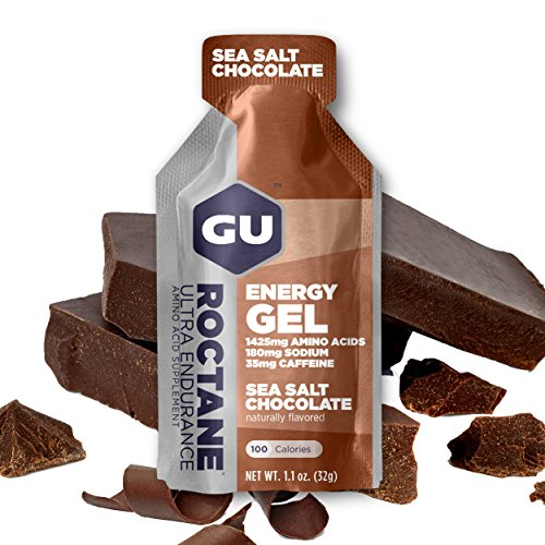 GU Energy Roctane Ultra Endurance Energy Gel, Sea Salt Chocolate, 24-Count