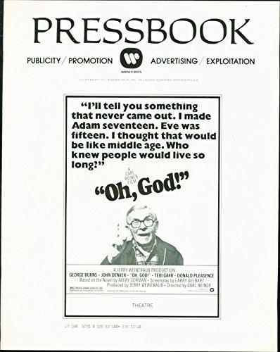 Oh, God (1977) John Denver, George Burns, Teri Garr pressbook