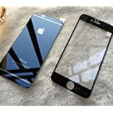 Kapa Electroplated Mirror Front + Back Tempered Glass Screen Protector for iPhone 6 - Black