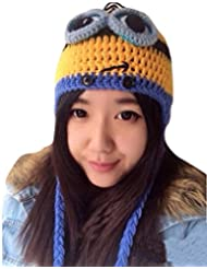 Kisstyle Women Men Unisex Knited Minions Cap Children Despicable Me Hat_Eyes Yellow