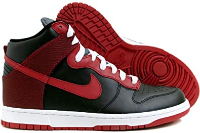 check out 9f29c 70556 ... switzerland amazon nike dunk high womens fashion sneakers 12 black varsity  red shoes 50c40 dd637