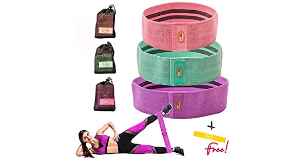 Amazon.com: Booty Bands 3 Resistance Bands Set for Women ...