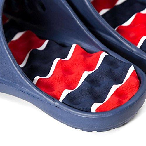Für eine RUN PR Soles Recovery Sandalen gegangen  Patriotisch