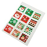1PCS 12 Seals Merry Christmas Gift Sticker Wrapping Food Bag Decorative Sealing Sticker