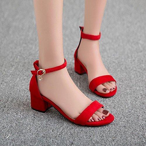 LI Flop sandali di BAJIAN scarpe toe Peep Alta Ladies sandali estivi scarpe Flip basse heelsWomen dSwwxq7Op