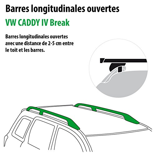 low-cost Pack Rameder barres de toit SquareBar pour VW CADDY IV Break (116020-14302-1-FR)