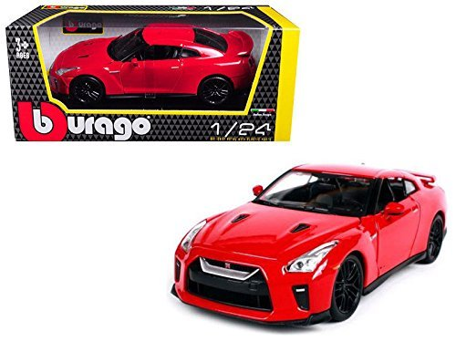 Gtr Diecast Car - NEW 1:24 W/B BBURAGO PLUS COLLECTION - RED 2017 Nissan GT-R R35 Diecast Model Car By Bburago