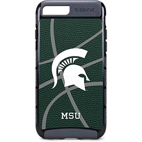 promo code 10b0f 7de3a Skinit Michigan State University iPhone 8 Plus Cargo Case - Michigan State  University Green Basketball Design - Durable Double Layer Phone Cover