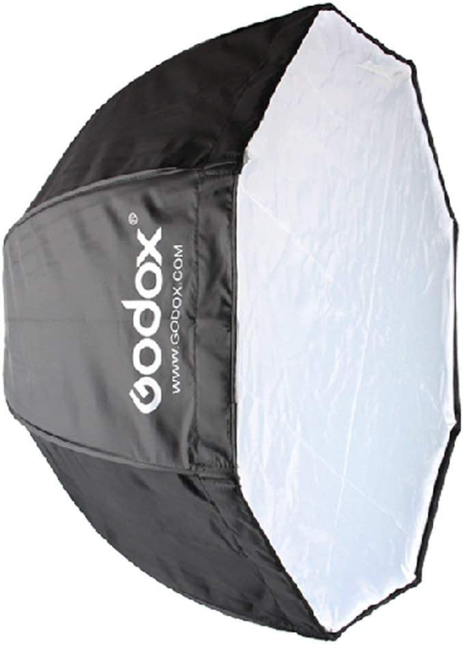 Godox 120cm//47.2in Portable Octagon Softbox Umbrella Brolly Reflector for Speedlight Flash