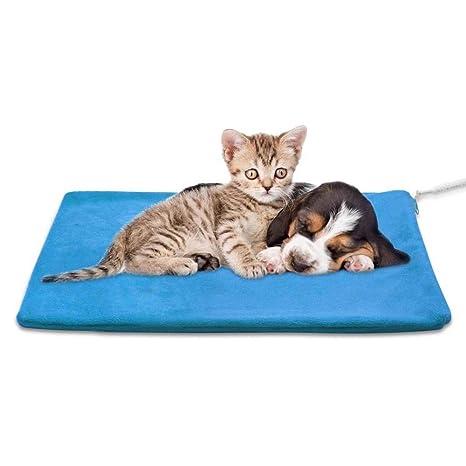 FXQIN Almohadilla térmica para Mascotas, Manta eléctrica de ...