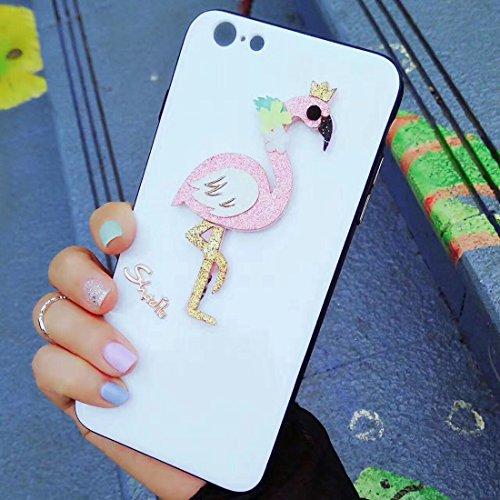 GHC Cases & Covers, Für iPhone 6 & 6s Flamingo Muster Schutzmaßnahmen zurück Fall Fall