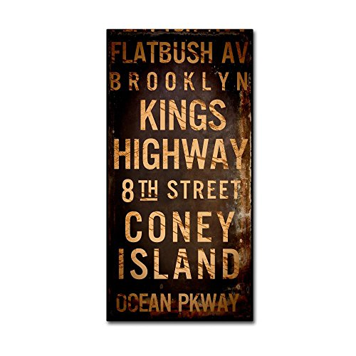 Brooklyn I by Color Bakery, 12x24-Inch Canvas Wall - Signs Nyc Subway