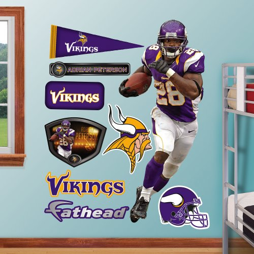 NFL Minnesota Vikings Adrian Peterson Home Wall (Adrian Peterson Wall Graphic)