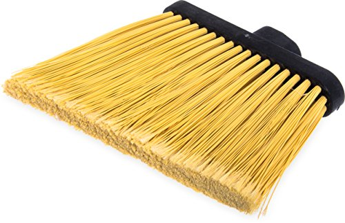 Carlisle 3686700 Duo-Sweep Flagged Angle Broom Head, 12'' Width, Natural by Carlisle