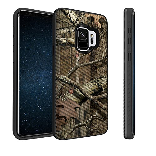 Untouchble Case for Samsung Galaxy S9 Plus Camo Case, S9+ Plus Case [Stripe Force] Shockproof Armor Shell Rugged Linear Design Inner TPU Skin Design - Real Hunter Camo