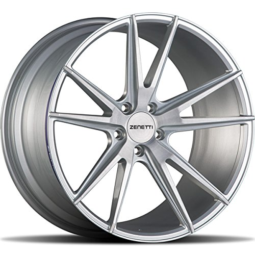 """20"""" Inch Staggered Zenetti Venice Silver Brushed Wheels & Tire Package   BBS VOSSEN LEXANI FORGIATO KONIG AUDI BMW MERCEDES INFINITY"""