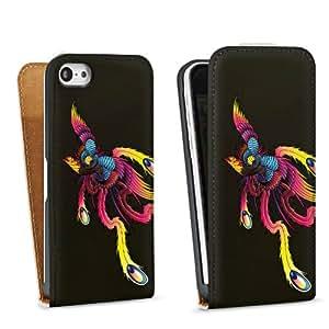 Diseño para Apple iPhone 5C DesignTasche Downflip white - Phoenix Schwarz