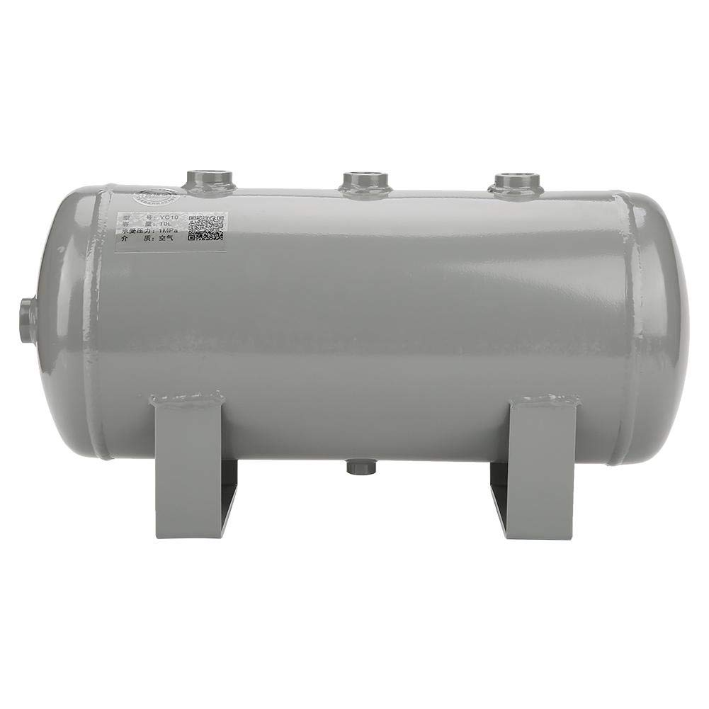 Akozon Gas Storage Tank 10L Grey Vacuum Carbon Steel Air Gas Storage Tank Cylinder for Air Compressor by Akozon