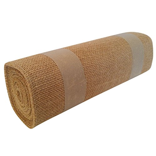 Jons Imports 14'' x 10 Yard Natural Burlap Premium Quality for Table Runners Wedding, Party décor, Art & Craft Supplies by Jons Imports
