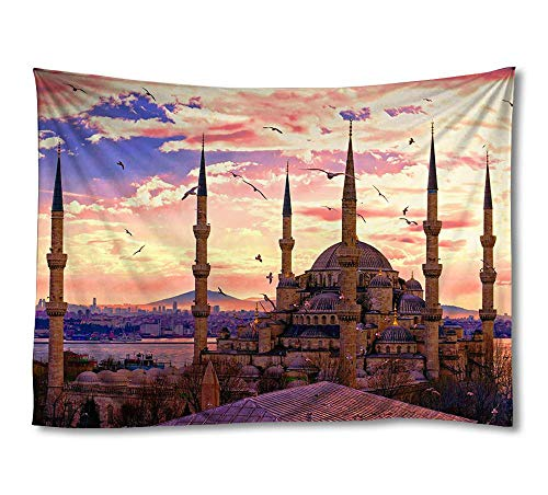 FHYGJD Sultan Ahmed Mosque Istanbul Art Print Tapestries,Home Wall Decor Tapestry(60x90 - Mosque Ahmed Sultan