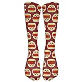 Girls Knee High Socks Cute Hamburger Food Cheese Thermal Cotton Womens Socks Christmas Stockings Crew Socks Gifts For Romantic Hip Hop Volleyball Shoes