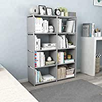Sterling Plastic Home Book Shelf 4 x 2 Layers ,Powder Coated Finish,Set Of 1,Grey