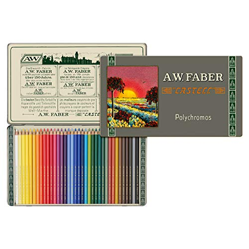 Faber-Castell Polychromos 111th Anniversary Limited Edition Wood Colored Pencil Tin - 36 Colors by Faber-Castell (Image #7)