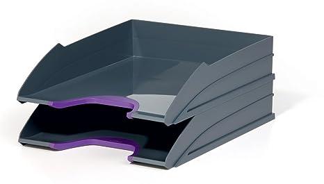 Set Da Scrivania Viola : Scrivania di pois viola con set di matite colorate u foto stock