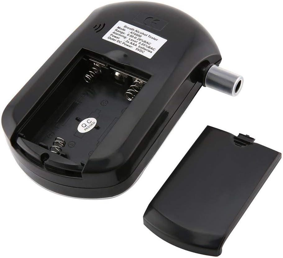 shizhongminghe-UK Professional Pocket Digital Alcohol Breath Tester Analyzer Breathalyzer Detector Test Testing LCD Display black
