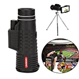 Liu Nian Cell Phone Camera Zoom Lens Kit, 50X60 Zoom 50X Optical HD Lens Monocular Telescope +Extendable tripod + Clip For Universal Phone, Samsung, Google, LG and Most phones
