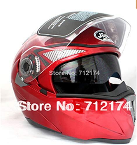Motorcycle Helmets Dual Visor Modular Flip Up Helmet Racing Motocross Helmets Sticker M-XXL Motorcycle Helmet 6 XL