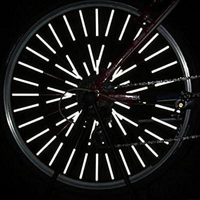 12pcs Bicycle Wheel Spoke Reflector Reflective Mount Clip Tube Warning Strip