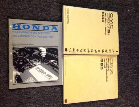 1985 Honda Civic Crx Si Repair Service Shop Manual Set W Etm Factory Honda Amazon Com Books