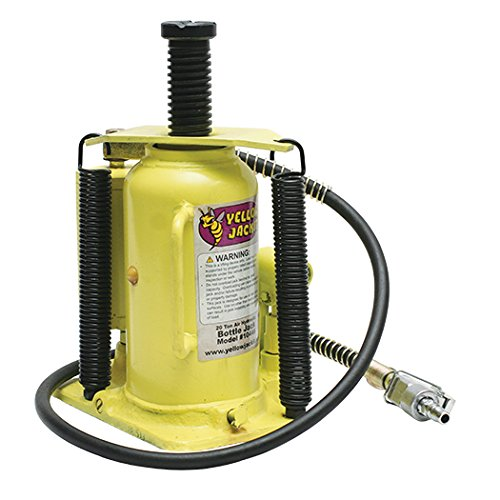 ESCO 10446 Yellow Jacket Air Hydraulic Bottle Jack, 20 Ton Capacity, 18.75