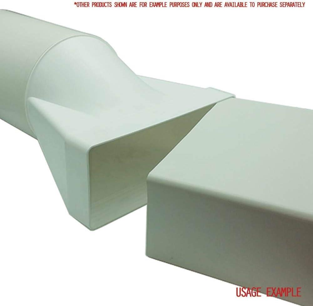 / 204/mm X 60/Mm rectangular a 125/mm redondo /SYS-204//SYS-125/ /ducvkc5613 Kair recto redondo a Rectangular conductos adaptador
