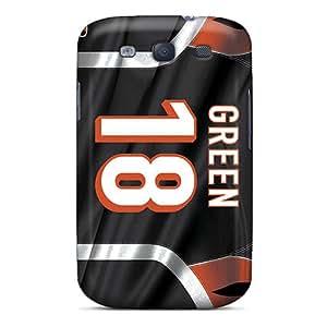 SherriFakhry Samsung Galaxy S3 Perfect Hard Phone Cover Support Personal Customs Lifelike Cincinnati Bengals Image [tub2352gwLm]