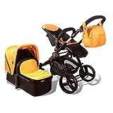 Elle Baby 3-in-1 ORANGE Travel System Child Stroller and Pram