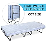 Milliard Lightweight Folding Bed with Mattress – Cot Size...