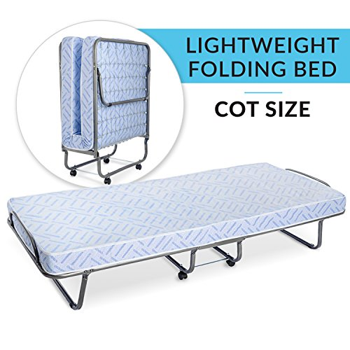 (Milliard Lightweight Folding Cot with Mattress 31