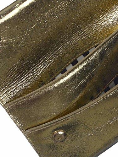 S Pochette Pelle Colore 2V5460 S18 Borsa Laminata Pepe Oro AG49Y310 in Patrizia q8fpSp