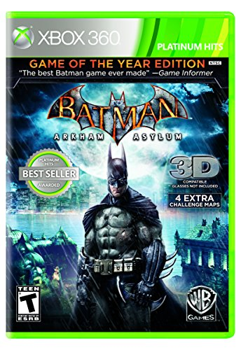 Arkham Asylum 360 Xbox (Batman: Arkham Asylum [Game of the Year Edition] (Platinum Hits))