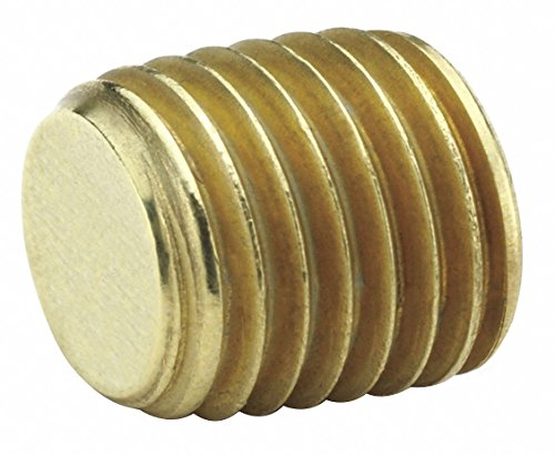 Parker VS219P-8 Brass Countersink Plug, MNPT, 1/2 Pipe Size - Pipe Fitting - 1 Each