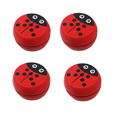 Eanan 4 Pack Cute Ladybug Prints Wooden Yoyo Toys Ladybug Toys Classic Yo-Yo Creative Yo Yo Ball for Kids Children Gift: Toys & Games